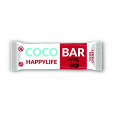 COCO BAR – Kokosová tyčinka s višňami BIO 40g Happy Life