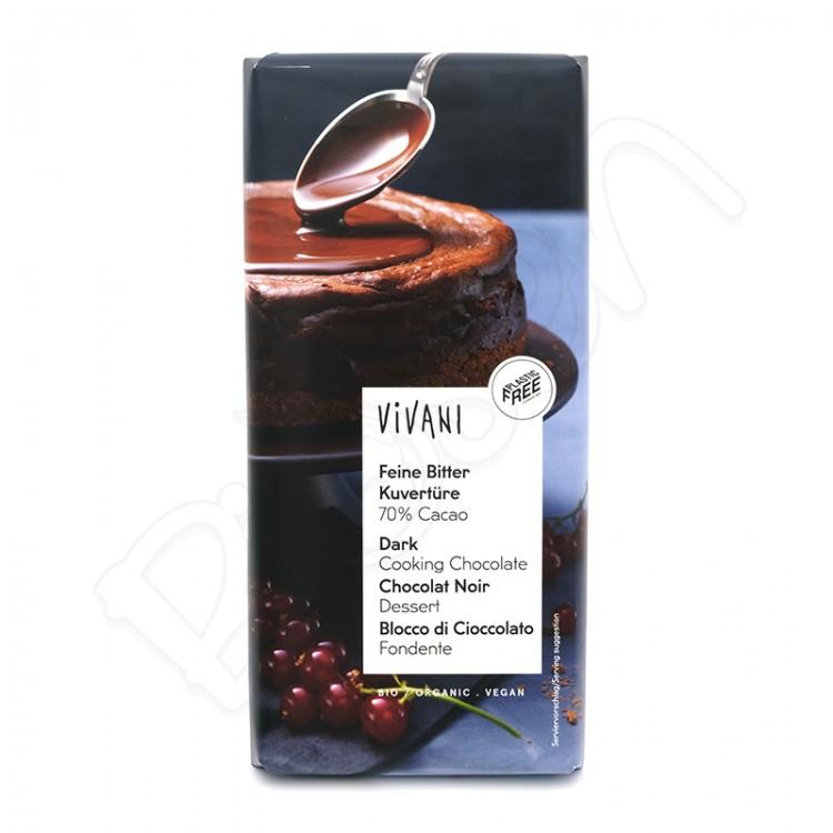 Čokoláda na varenie HORKÁ 70% BIO 200g Vivani
