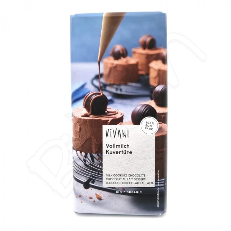 Čokoláda na varenie MLIEČNA BIO 200g Vivani