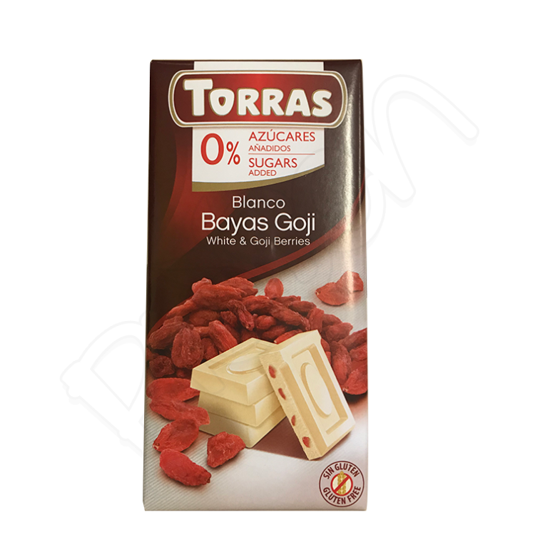 Biela čokoláda s goji so sladidlami BZL 75g Torras