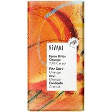 Čokoláda HORKÁ s pomarančovým olejom BIO 100g Vivani
