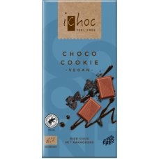 Ryžová čokoláda choco cookie BIO 80g ichoc