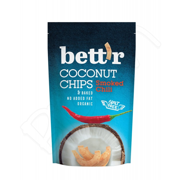 Kokosové chipsy s chilli BIO 70g Bettr