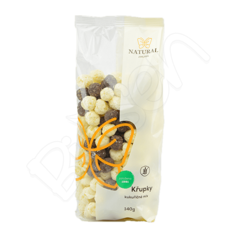 Chrumky kukuričné MIX 140g Natural Jihlava