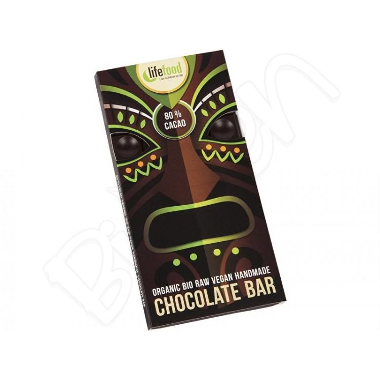 Raw čokoláda z nepraženého kakaa 80% BIO 70g Lifefood