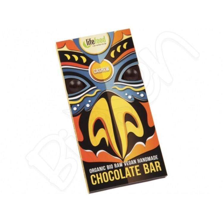 Raw čokoláda z nepraženého kakaa Kešu BIO 70g Lifefood