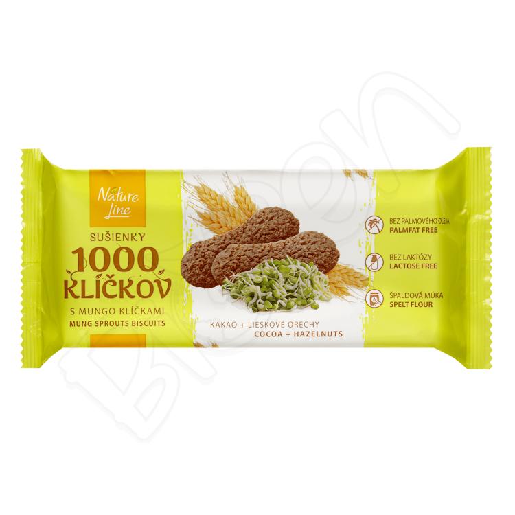 Sušienky 1000 klíčkov s mungo klíčkami 90g Nature Line