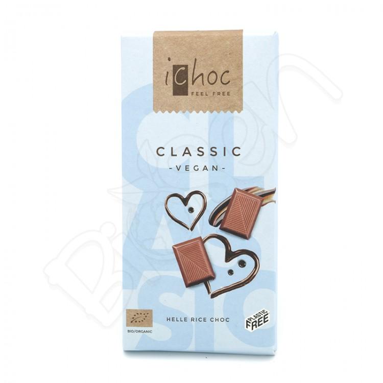 Ryžová čokoláda so zemnými mandľami BIO 80g ichoc