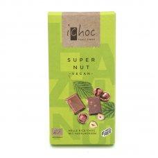 Ryžová čokoláda s lieskovými orechmi BIO 80g ichoc
