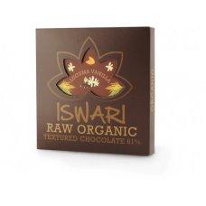Čokoláda tvarovaná 61% LUCUMA VANILKA BIO RAW 75g Iswari