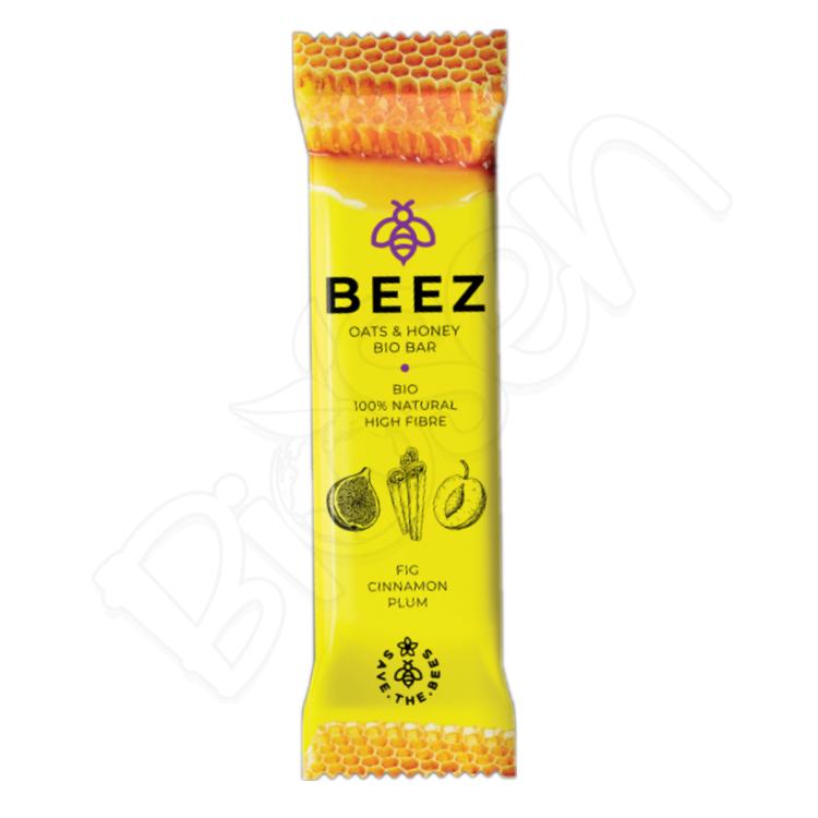 Medová tyčinka BIO - FIG, CINNAMON, PLUM 40g Beez
