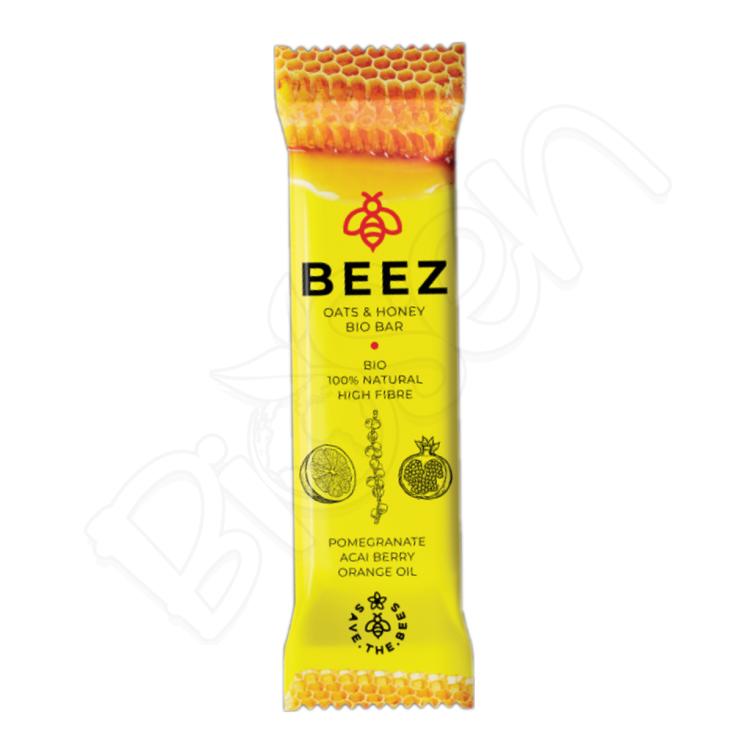 Medová tyčinka BIO - GRANÁT.J, ACAI, POMARANČ 40g Beez