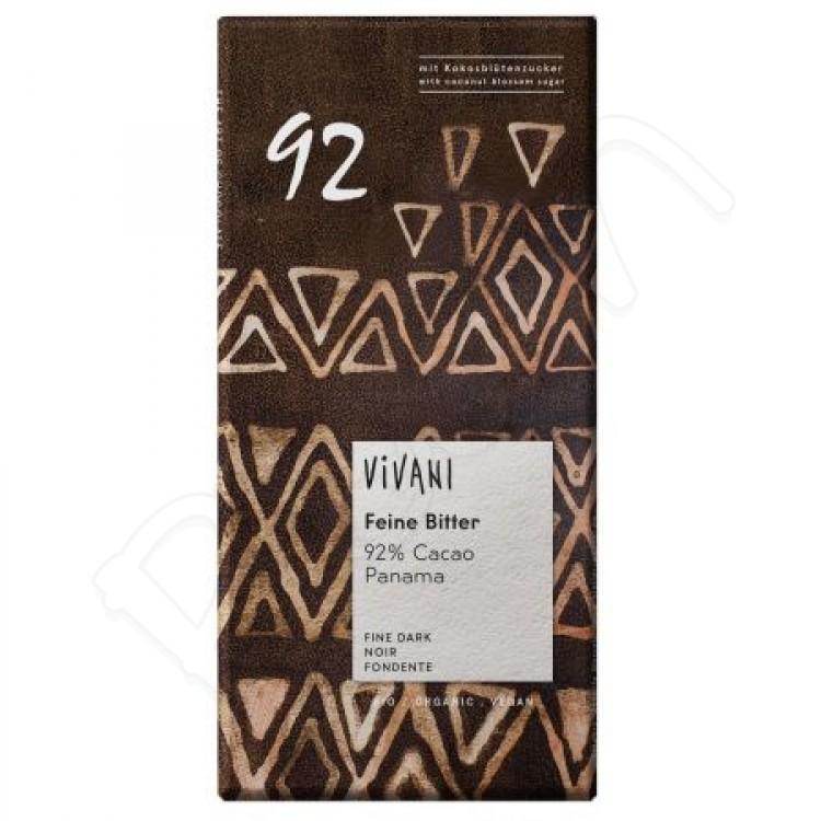 Horká 92% čokoláda BIO 80g Vivani