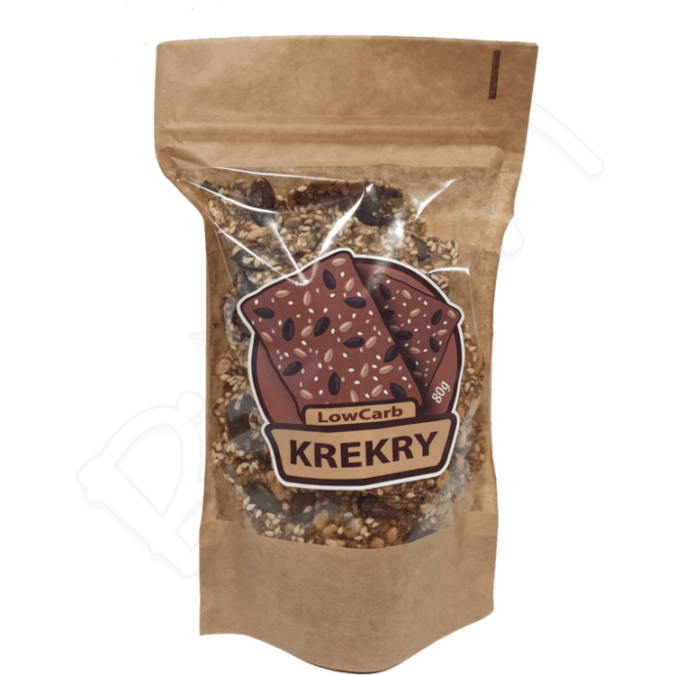 Krekry natural LowCarb 80g Koda Food