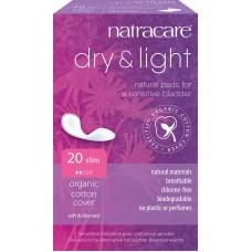 Inkontinenčné vložky Dry & Light 20ks Natracare
